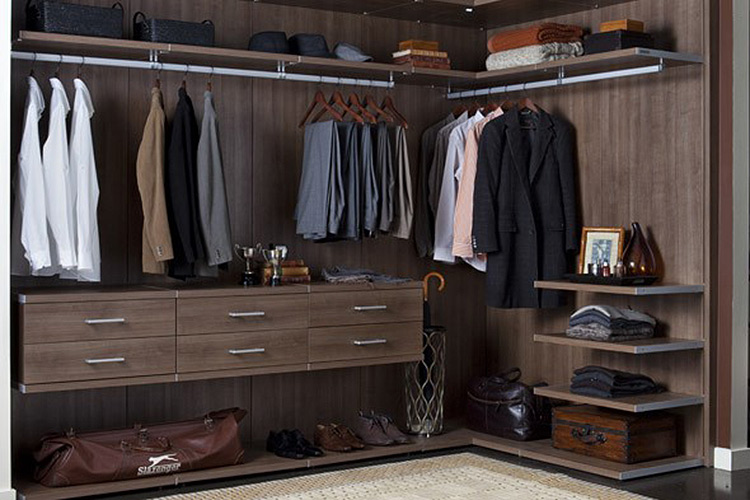 Awesome Walk In Closet Brown