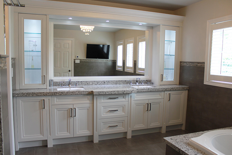 Toronto Thornhill Bathroom Design Renovation Vanity Cabinets - Bathroom remodel double sink vanity