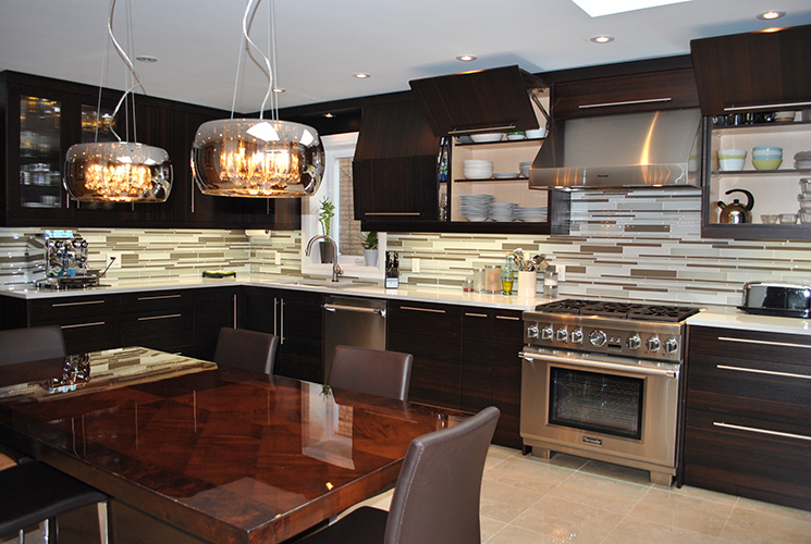 Dark Dmdern Kitchen Bamboo Cabinet Doors Toronto And Thornhill Custom Modern  Design