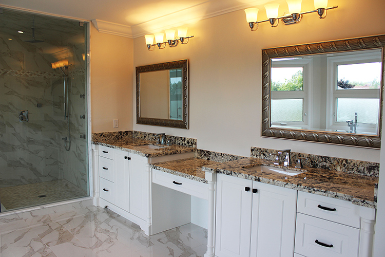 toronto thornhill bathroom design renovation vanity cabinets - Bathroom Remodel Double Sink