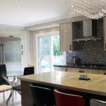 Modern Kitchen High Gloss Built In Fridge Side To The Pantry Torotno