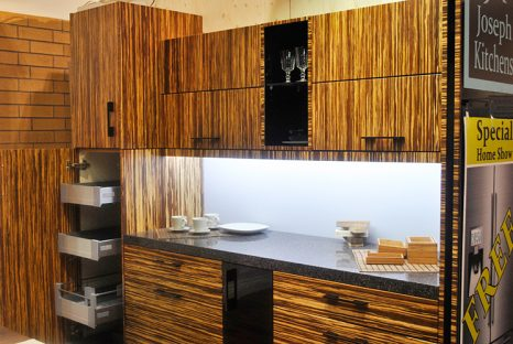 Toronto and thornhill custom modern kitchen design for Bamboo wood kitchen cabinets