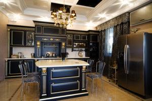 luxurious classic black kitchen
