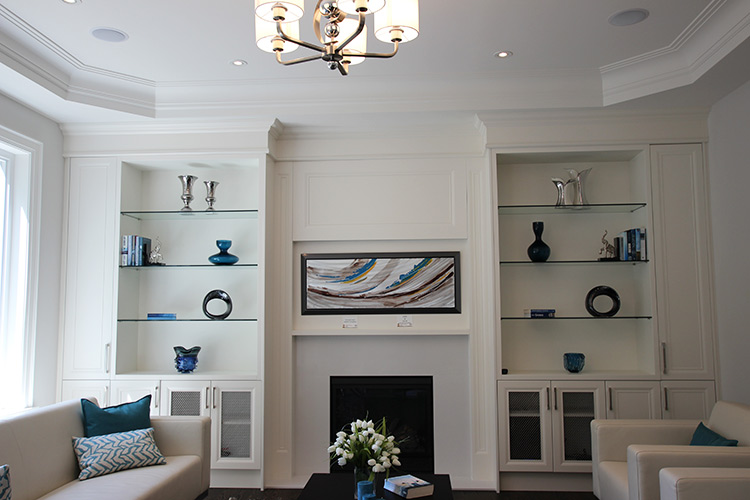 custom wall units built ins design in toronto thornhill