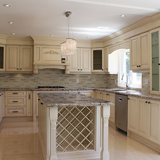 Custom made high end kitchen cabinets renovation in for Classic kitchen cabinets toronto