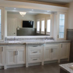 Fully Renovated Bathroom Double Sink Vanity Offwhite Paint