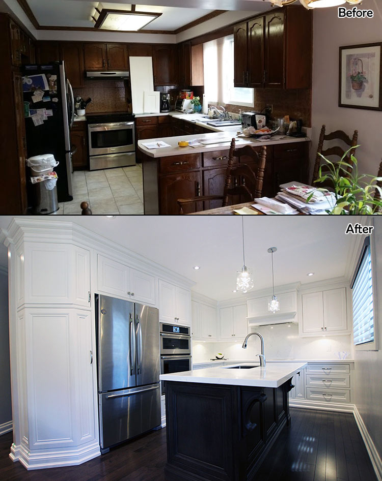 Kitchen Renovation Before After Photo A