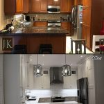 kitchen renovation before after photo