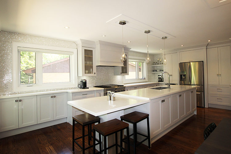 white kitchen cabinets toronto toronto and thornhill custom transitional kitchen design 28952