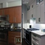 modern painted white kitchen renovation before after photo