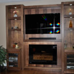 Walnut, wall unit. Designed and built by JK. Richmond Hill. 2015