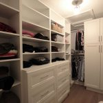 Walk in closet. Custom design to cover the needs of clients. Closet, open shelves and drawers. Design and built by JK. Dec. 2018 Markham