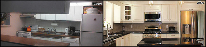 Toronto Kitchen Renovation Contractor - Kitchen remodels before and after photos