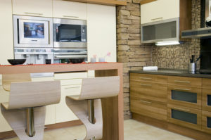 modern kitchen bamboo